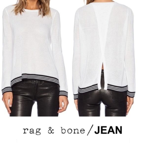 400a1b1a194 Rag   Bone Jean Nikki Split Back Pullover Sweater.  M 5b8594f0819e90680dc01a7e